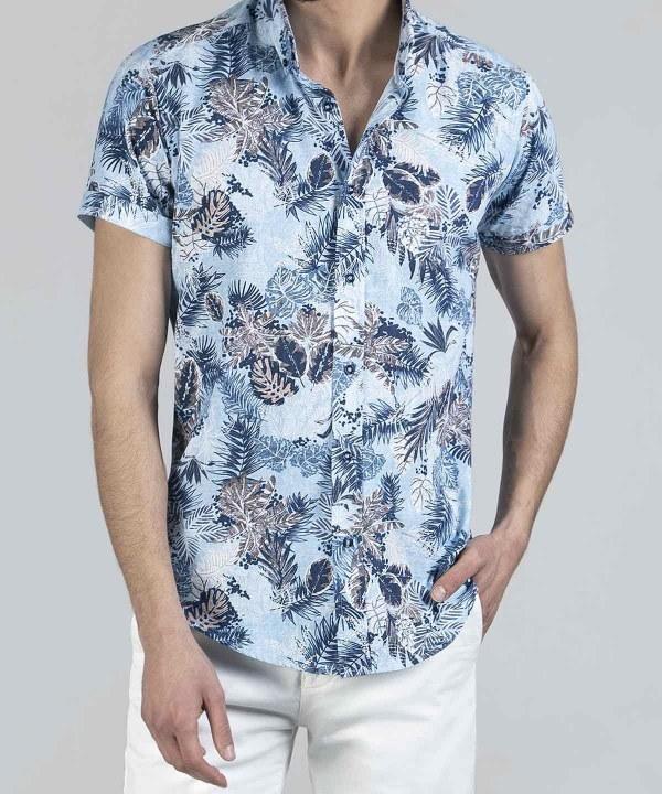 تصویر پیراهن مردانه هاوایی کروم Corum کد 2120101