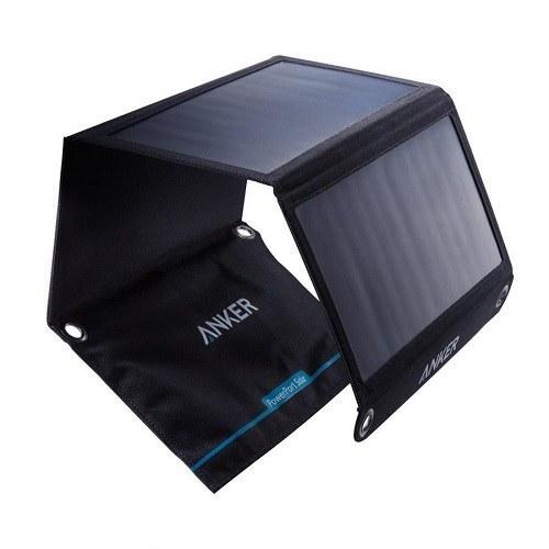 تصویر شارژر خورشیدی دوکاره Anker 21W Anker PowerPort Solar 2 Ports 21W Dual USB Solar Charger for iPhone 7 / 6s / Plus, iPad Pro / Air 2 / mini, Galaxy S7 / S6 / Edge / Plus, Note 5 / 4, LG, Nexus, HTC and More