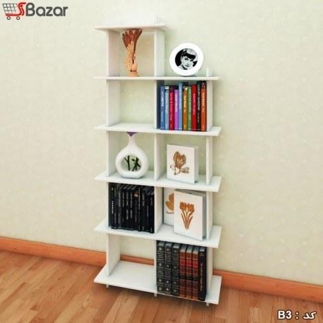 عکس کتابخانه هفت خانه مربع MDF  کتابخانه-هفت-خانه-مربع-mdf