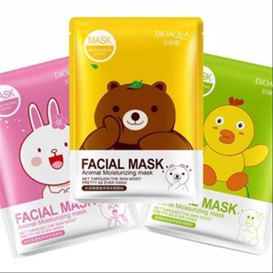تصویر ماسک ورقه ای کوکو فرندز برند اورجینال بیو آکوا Animal moisturizing mask Bioaqua