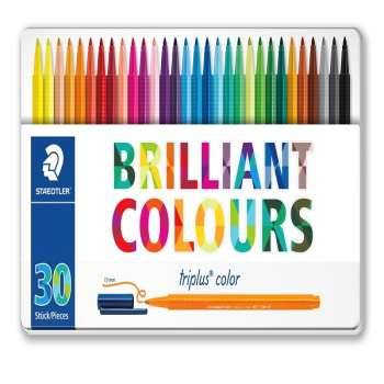 ماژیک 30 رنگ استدلر مدل triplus کد 323m30 |