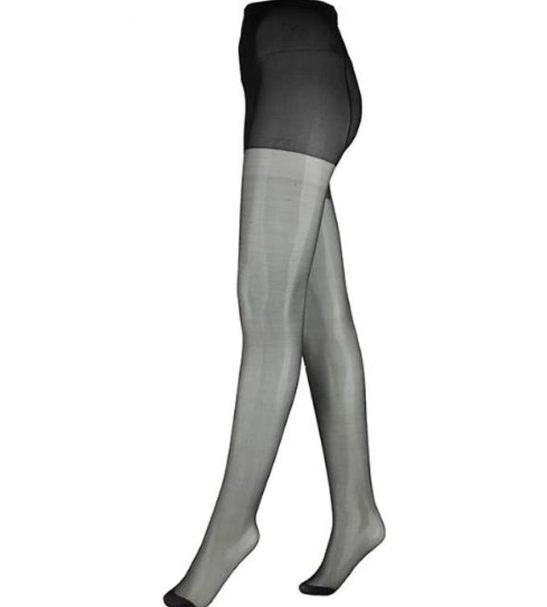جوراب شلواری شیشه ای زنانه مشکی
