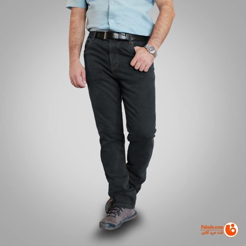 شلوار جین کشی مردانه یزدباف رنگ طوسی تیره با کد 003182 |