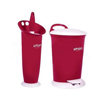 تصویر سطل و فرچه دستشویی ساده لیمون