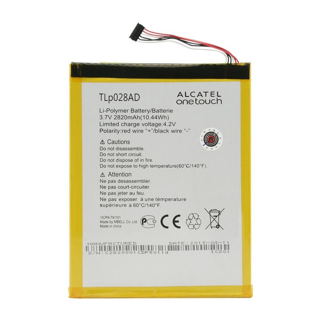 تصویر باتری اورجینال تبلت آلکاتل TLp028AD ظرفیت 2820 میلی آمپر ساعت Alcatel TLp028AD 2820mAh Original Battery