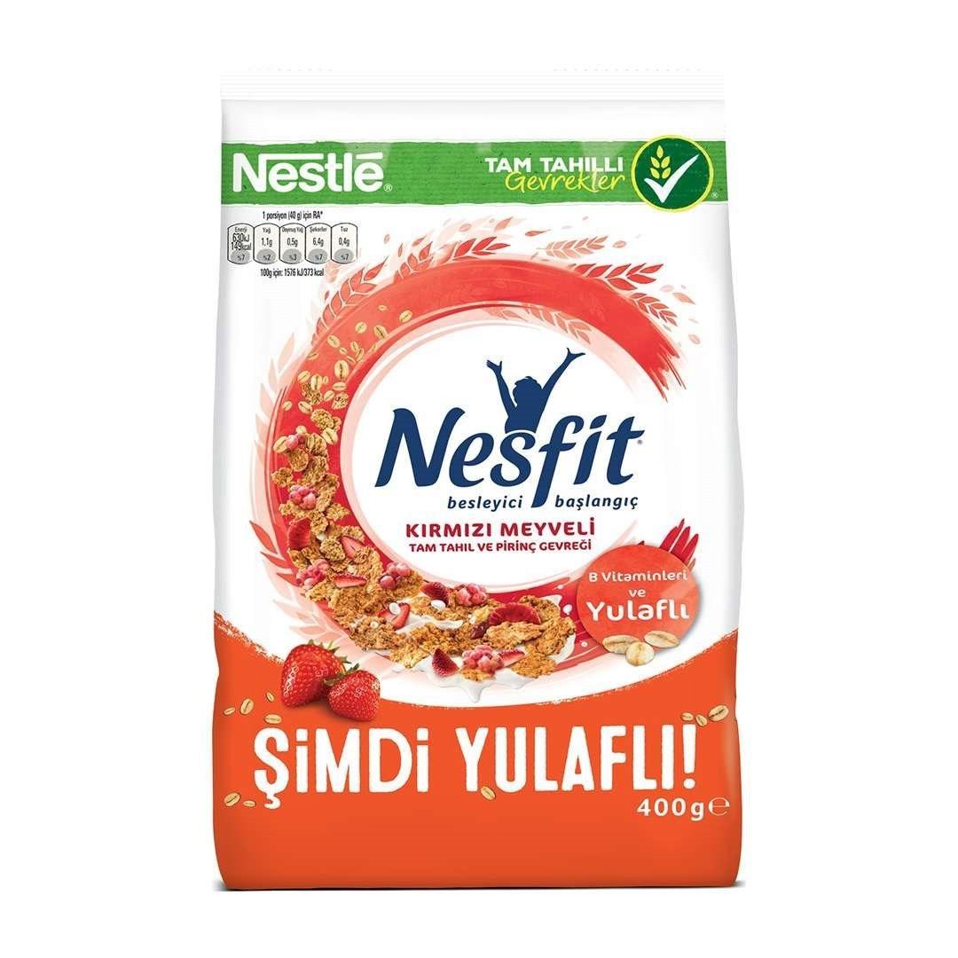 تصویر کورن فلکس رژیمی نسفیت با طعم میوه های قرمز نستله 400 گرم Nestle Nesfit