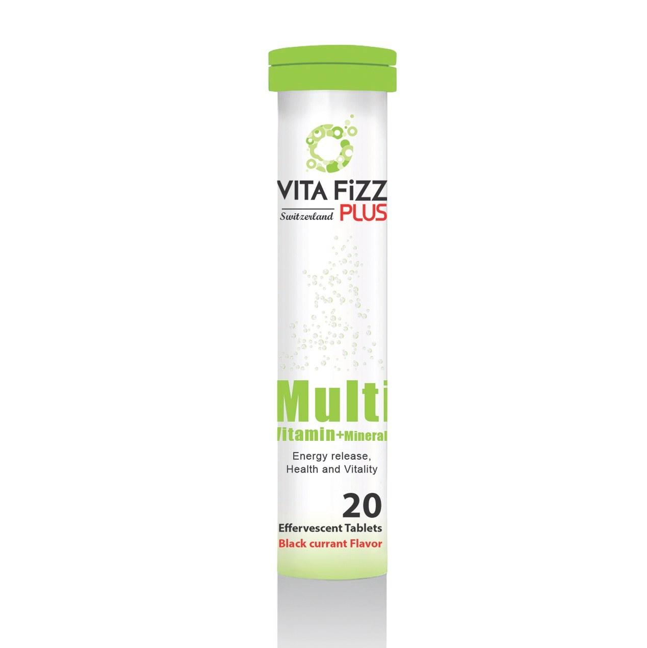قرص جوشان مولتی ویتامین و مینرال Multi Vitamin and Minerals ویتافیز پلاس ۲۰ عددی