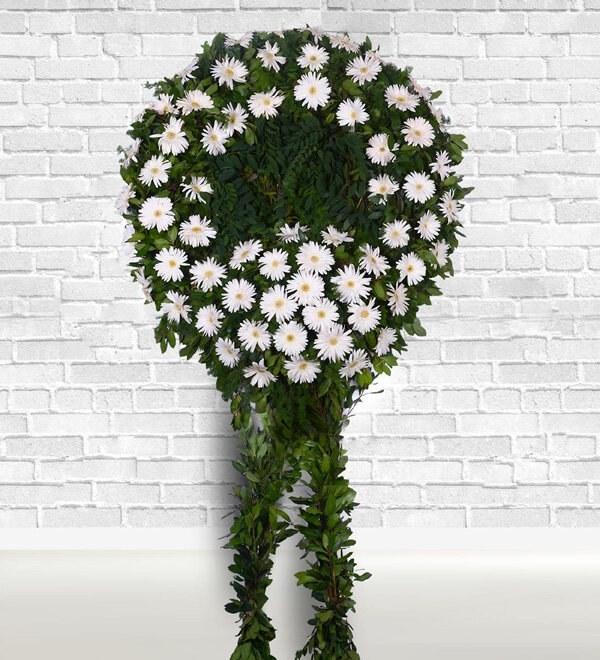 تصویر تاج گل تسلیت و ترحیم (ارسال گل به ترکیه)