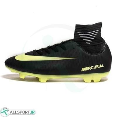 تصویر کفش فوتبال نایک مرکوریال ساقدار طرح اصلی مشکی Nike Mercurial 2019