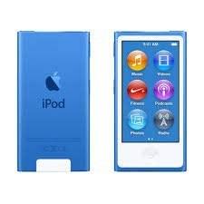 پخش کننده موسیقی iPod Nano نسل 7th آبی 16gb بسته بندی شده در جعبه ساده سفید