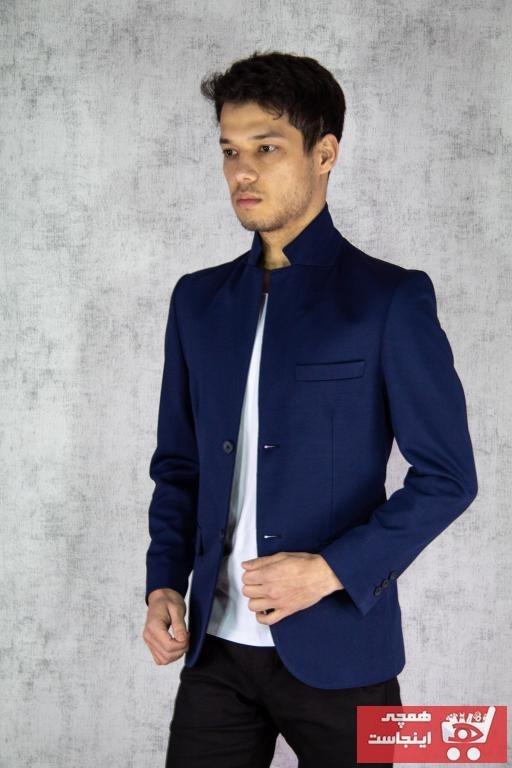 تصویر کت تک مردانه اسپرت جدید برند Twenhil رنگ لاجوردی کد ty88857331