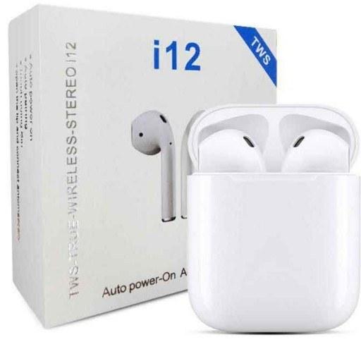 تصویر هدفون بی سیم مدل i12-tws TWS i12+earpods Bluetooth Headset