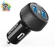 عکس شارژر فندکی انکر مدل A2212 PowerDrive Elite 2 Ports Anker A2212 PowerDrive Elite 2 Ports Car Charger شارژر-فندکی-انکر-مدل-a2212-powerdrive-elite-2-ports