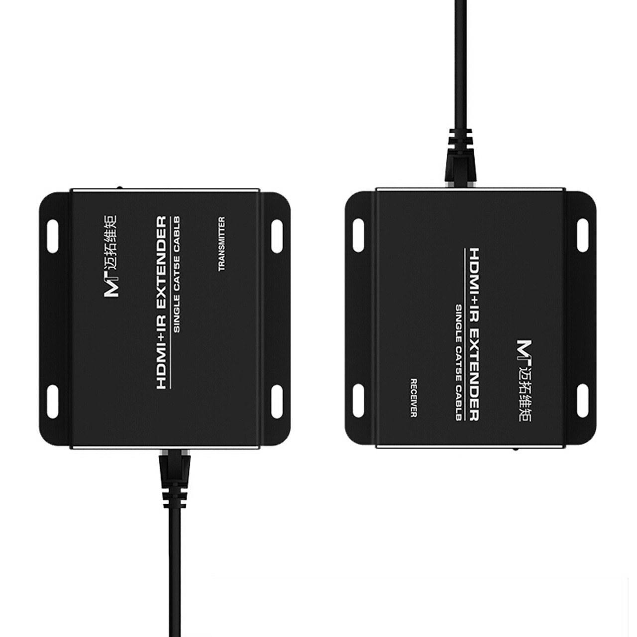 تصویر دستگاه افزایش طول 50 متری HDMI با یک رشته کابل شبکه