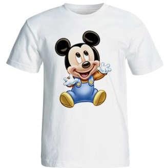 تی شرت آستین کوتاه زنانه طرح میکی موس کد 41002