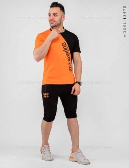 تصویر ست تیشرت و شلوارک مردانه Superdry مدل 18470