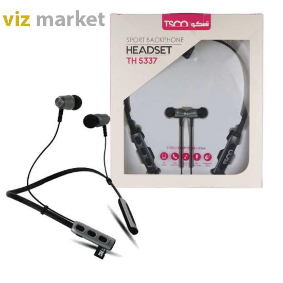 تصویر TSCO TH 5337N Neckband Bluetooth Headphone هدفون بلوتوث تسکو مدل TH 5337