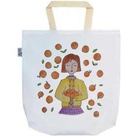تصویر ساک خرید ترمه طراحان ایده مدل دختر پرتقالی کد brn005