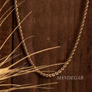 تصویر زنجیر طلا طنابی50سانت