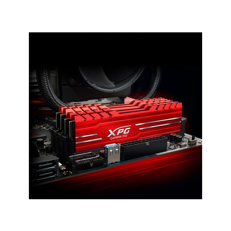 تصویر رم دسکتاپ DDR4 دو کاناله 3600 مگاهرتز CL16 ای دیتا مدل XPG GAMMIX D10 ظرفیت 16 گیگابایت