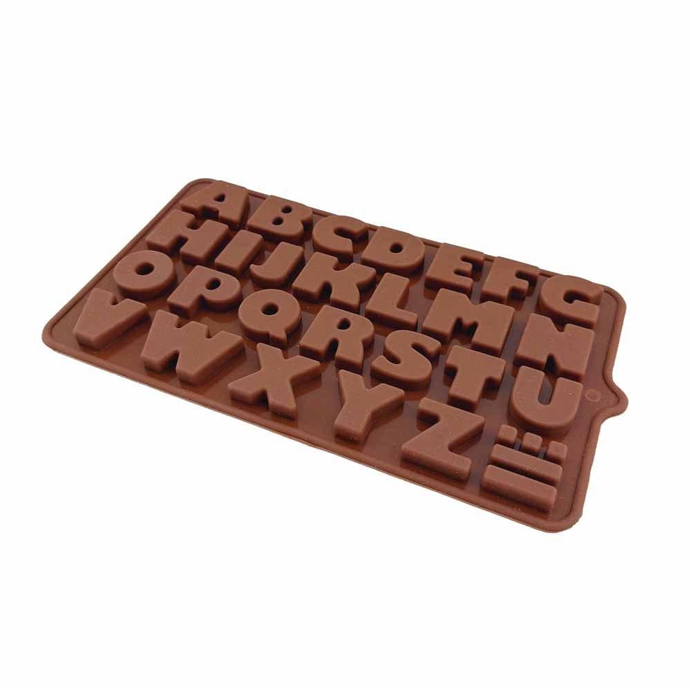 تصویر قالب سیلیکونی شکلات حروف انگلیسی