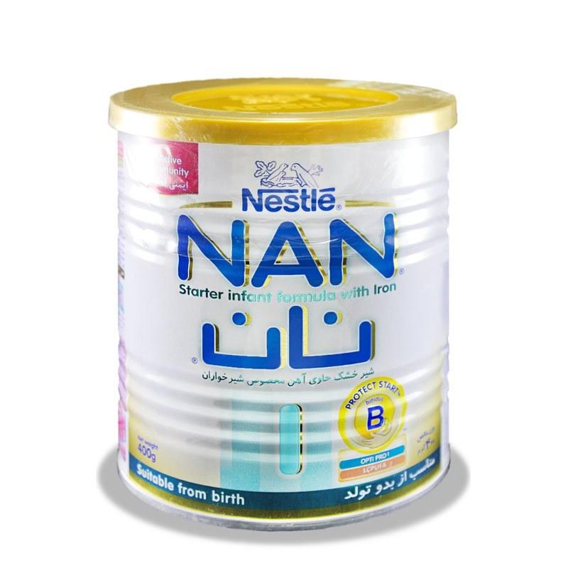 تصویر شیرخشک نان 1 NAN بدو تولد – نستله 400 گرم