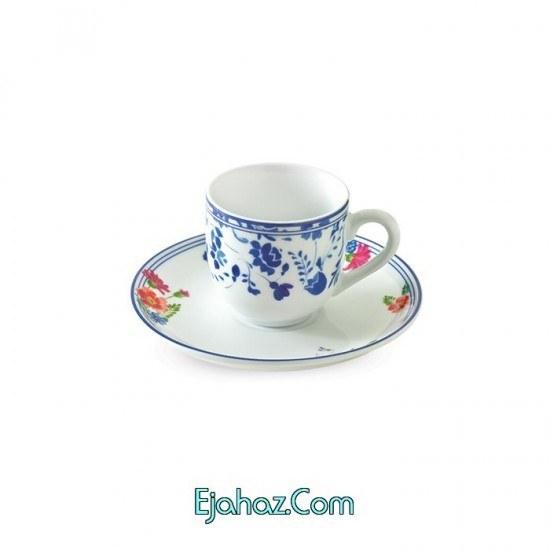 تصویر فنجان و نعلبکی قهوه خوری قهوه خوری سرویس چینی 12 پارچه قهوه خوری گرانادا 6 نفره درجه: عالی