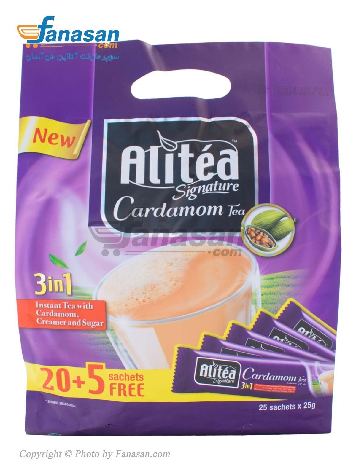تصویر شیر چای کلاسیک هل 3 در 1 علی تی بسته 25 عددی Alitea Milk Tea 3 in 1 classic 25 pcs