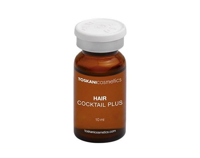 کوکتل تقویت و رشد مو توسکانی مدل هیر پلاس Toskani Hair cocktail plus (کلینیک) ترکیبات اصلی: Sabal Serrulata + Iron + Taurin + Panthenol + Glutathion + Thiamine + Biotin + Pyridoxine + Coumarin + Routine حجم: 10 میلی لیتر .