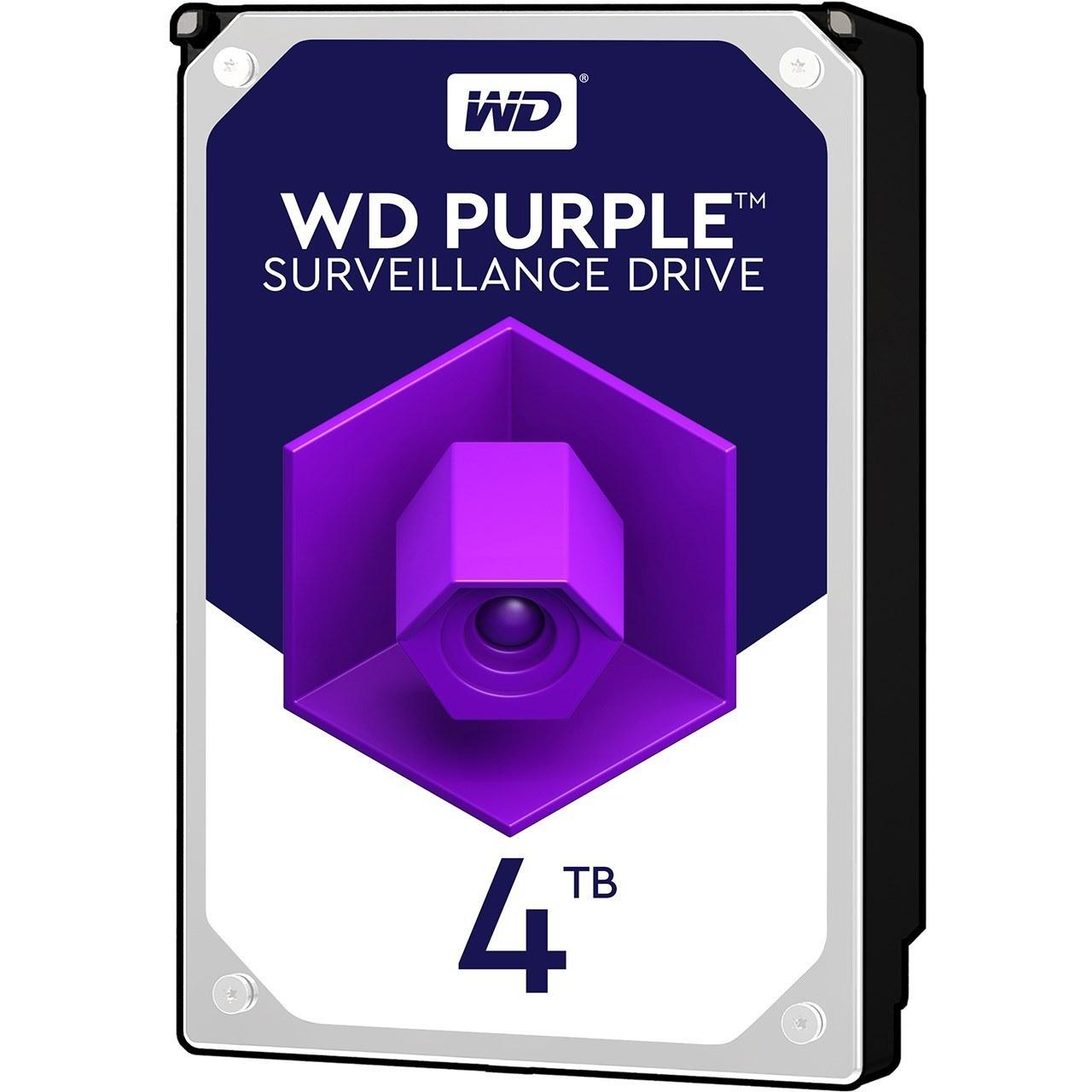 تصویر هارد دیسک اینترنال وسترن دیجیتال بنفش چهار ترابایت HDD WD 4TR Purple WD40EJRX