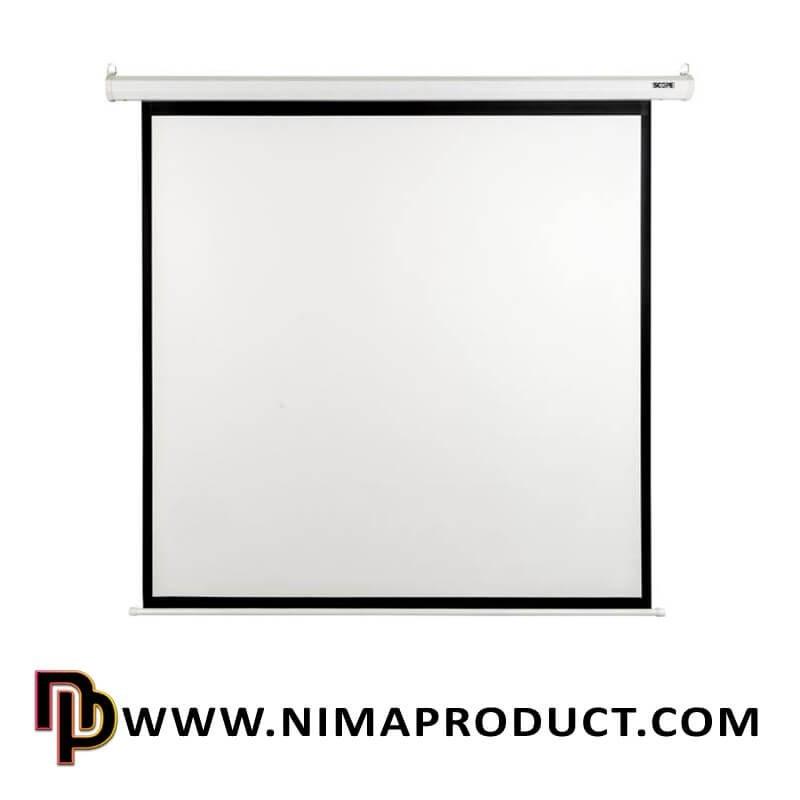 تصویر پرده نمایش دستی پروژکتور اسکوپ سایز 250x250 Scope 250x250 Manual Projector Screen