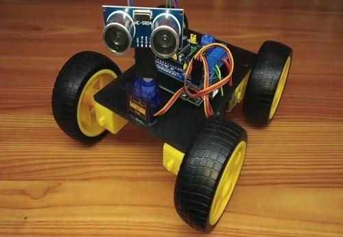 تصویر پروژه ربات دور شونده از موانع