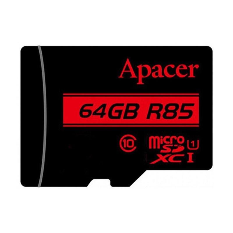 تصویر کارت حافظه MicroSDHC اپیسر کلاس 10 استاندارد UHS-I U1 85mb ظرفیت 64 گیگابایت Apacer Class10 UHS-I U1 MicroSDHC 64GB