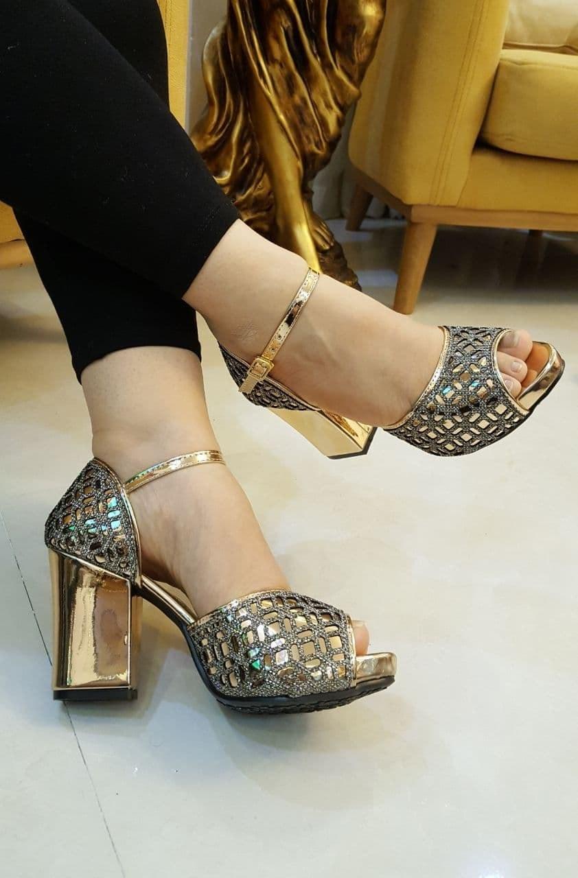 تصویر کد 2-259   کفش زنانه پاشنه مجلسی آذین