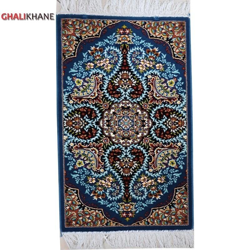 تصویر پادری فرش ماشینی رنگ آبی