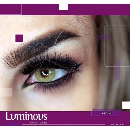 عکس لنز رنگی سالیانه لومینوس LUMINOUS رنگ لیمویی LEMON  لنز-رنگی-سالیانه-لومینوس-luminous-رنگ-لیمویی-lemon