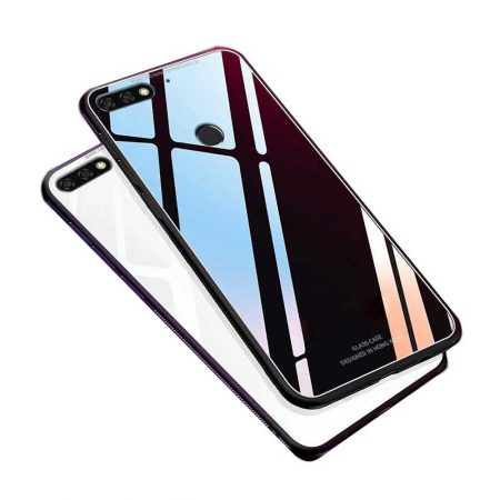 Huawei Y7 Prime 2018 Tempered Glass Back Case | قاب پشت گلس گوشی هواوی Huawei Y7 Prime 2018 مدل JZZS