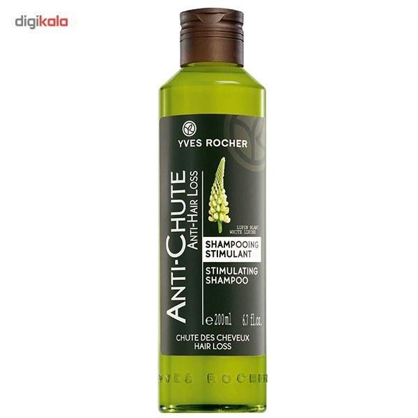 img شامپو ضد ریزش مو ایو روشه Yves Rocher مدل استیمولاتینگ 300 میل Yves Rocher Anti-Hair Loss Stimulating Shampoo-300ml