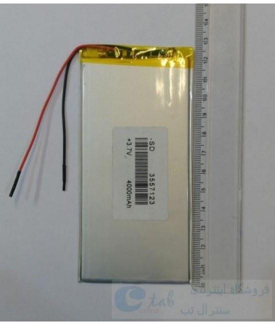 تصویر باتری (کیفیت بالا) تبلت های چینی و برند های متفرقه (4000 میلی امپر) -  12.8 * 6 سانتی متر