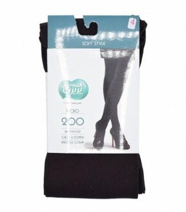 جوراب شلواری پریزن طرح ساده قهوهای 200  