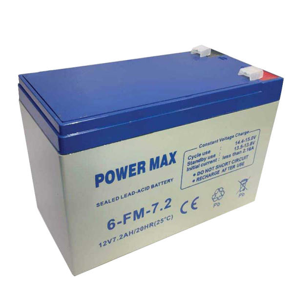 تصویر مشخصات -  قیمت                      باتری یو پی اس 12 ولت 7.2 آمپر پاور مکس مدل 1272