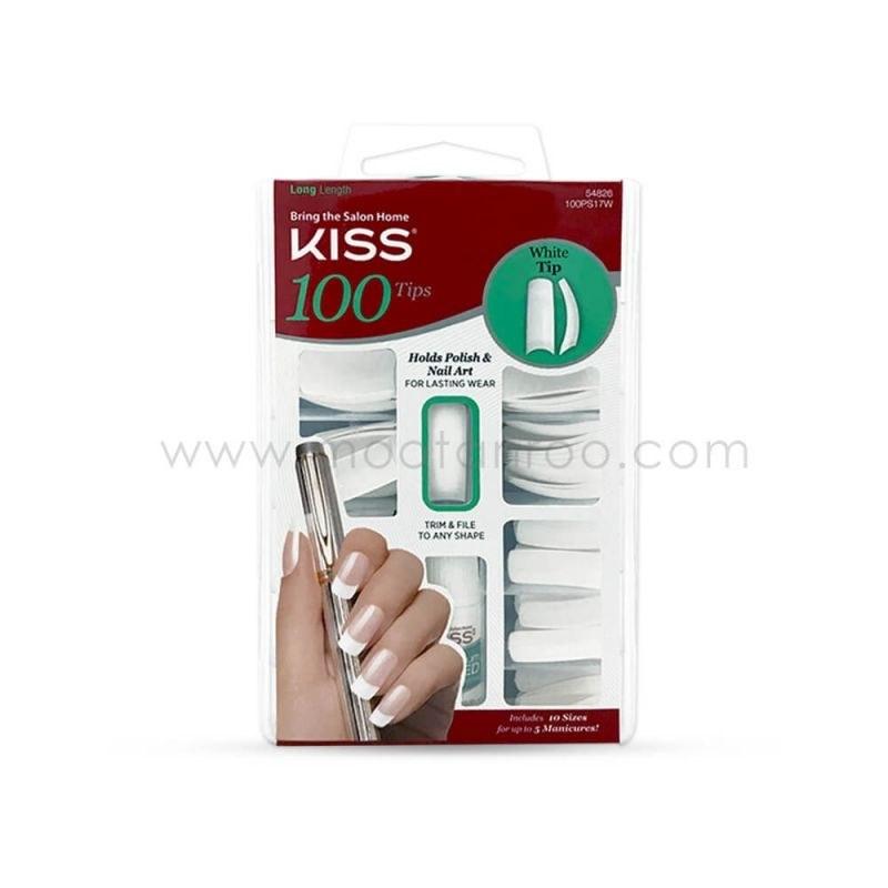ناخن مصنوعی 100 عددی مدل White Tip کیس