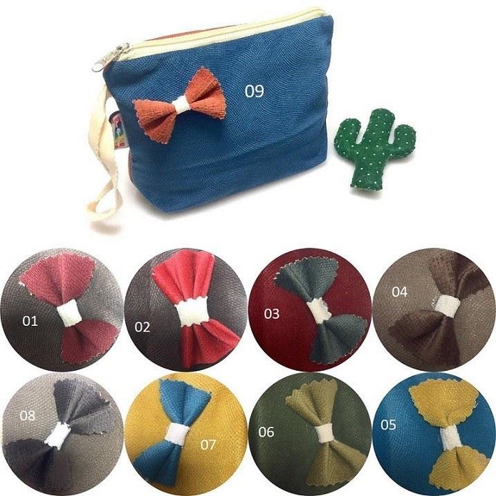 کیف لوازم آرایش پاپیونی با رنگبندی