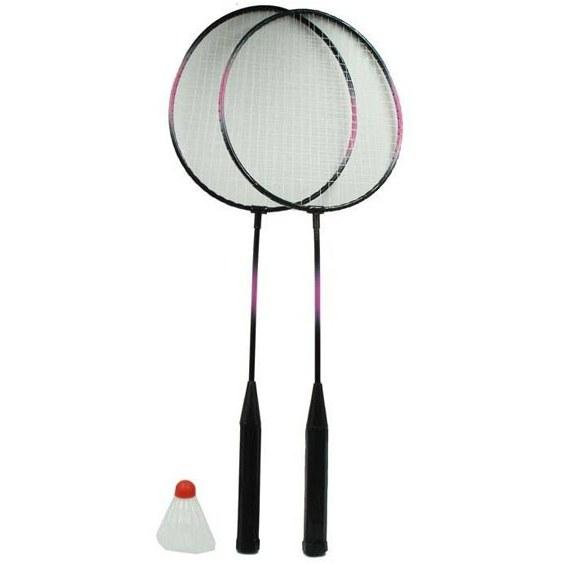 تصویر راکت بدمینتون همراه با توپ بسته دو عددی