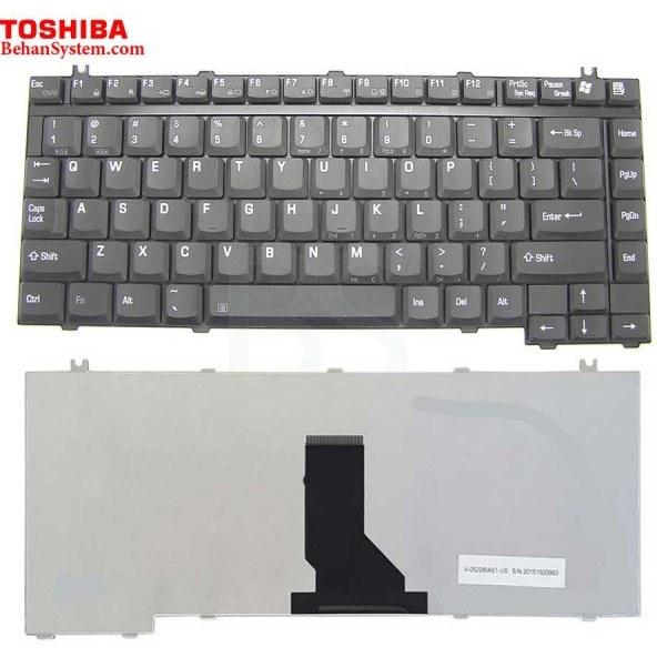 تصویر کیبورد لپ تاپ Toshiba مدل Satellite Pro A10-A135 به همراه لیبل کیبورد فارسی جدا گانه