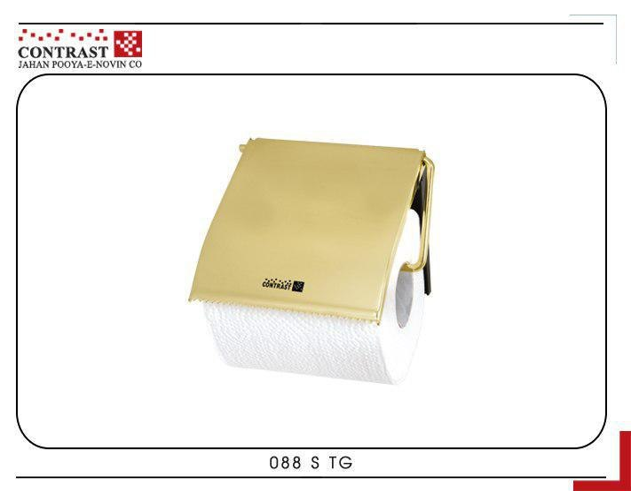 تصویر جای دستمال توالت طلایی کنتراست
