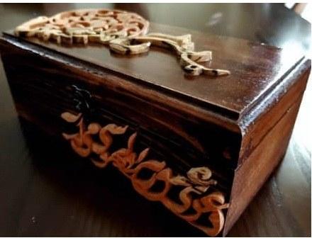 جعبه منبت و معرق تمام چوب کد ۰۰۲