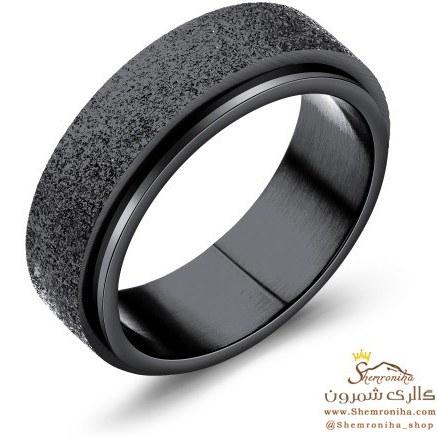 انگشتر مردانه حلقه ساده مشکی RNG502B0