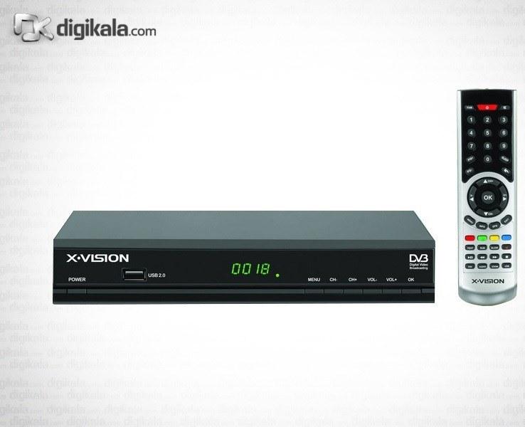 تصویر گیرنده تلویزیون دیجیتال ایکس ویژن مدل XDVB-110 X.Vision XDVB-110