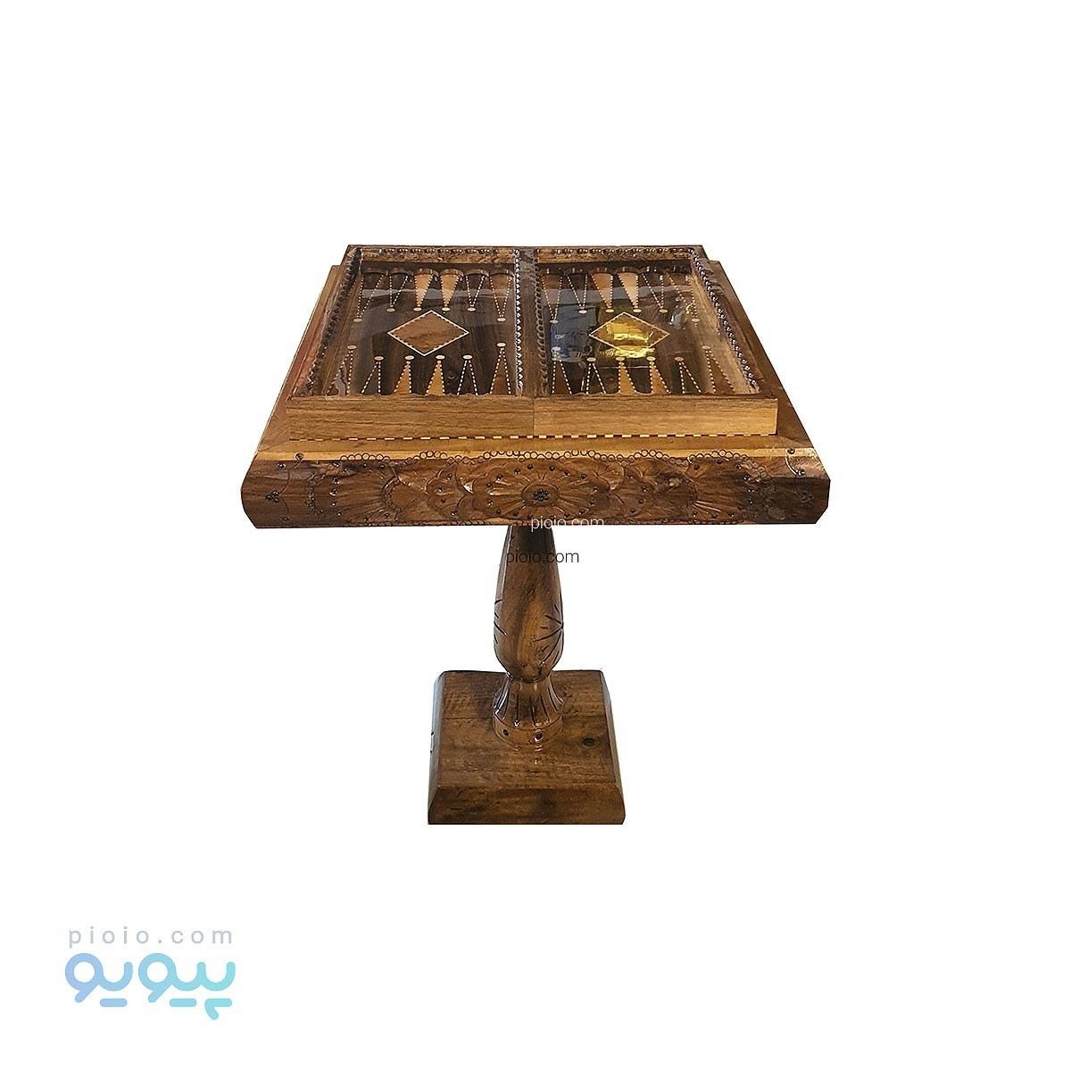 image میز تخته نرد و شطرنج چوب گردو منبت کاری سنندج
